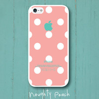 iPhone 5 Case, iPhone 5S Case - Peach Polka Dots /  iPhone 5S Case, iPhone 5S Cover, Cover for iPhone 5S, Case for iPhone 5S
