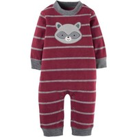 Child of Mine by Carter's Newborn Baby Boy Assorted Microfleece Jumpsuits - Walmart.com