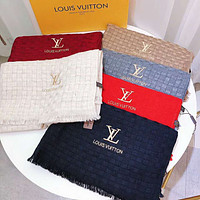 Inseva LV Popular Stylish Louis Vuitton Embroidery Warm Cashmere Cape Scarf Scarves Shawl Accessories