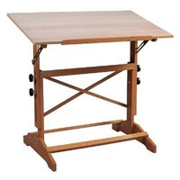 """Alvin Pavillon Art and Drawing Table Unfinished Wood Top 31"""" x 42"""""""