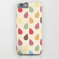 Colorful Teardrop Pattern iPhone & iPod Case by Pati Designs