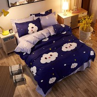 MYRU Home Textile Cartoon Cloud 4pcs Cheap Bedding Sets Children's Beddingset Bed Linen Duvet Cover Bed Sheet Pillowcase/bed Set