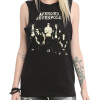Avenged Sevenfold Band Pic Muscle Girls Top
