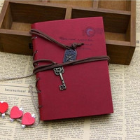 Vintage Magic Key String Classic Leather Notebook Diary Journal Retro Note Book = 1931771012