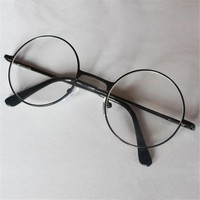 Retro men women round mirror reading glasses for Harry Potter metal frame glasses plain mirror personalized + 100...+400