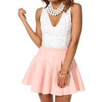 Sale--white Lace Sleeveless Fitted Top
