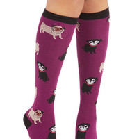 Critters Pug it Out Socks by ModCloth