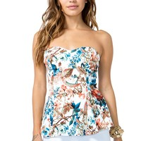 Era Floral Fit n Flare Top
