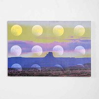 Magical Thinking Moonscape Stretched Canvas Print- Multi One