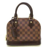 Auth LOUIS VUITTON Alma BB N41221 Ebene Damier Canvas AA2137 Handbag