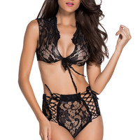 Lace Me Up Lingerie Set