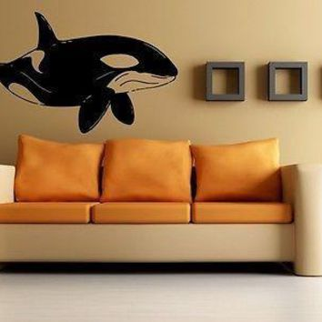Wall Stickers Vinyl Decal Orca Killer Whale Ocean Marine Sea World Unique Gift EM425