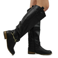 """Parksville"" Knee High Riding Boots - Black"