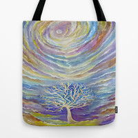 Earth Song Tote Bag by LILY NAVA GALLERY