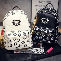 Stylish On Sale Comfort College Casual Hot Deal Back To School Lovely Cartoons Korean Cats Print Backpack [6582231687]