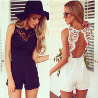 Fashion Romper Women Clothing Overalls Sexy Summer Sleeveless Halter Jumpsuit