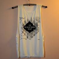 The Marauder's Map Shirt Harry Potter Shirts Muscle Tee Muscle Tank Top TShirt Unisex - size S M L