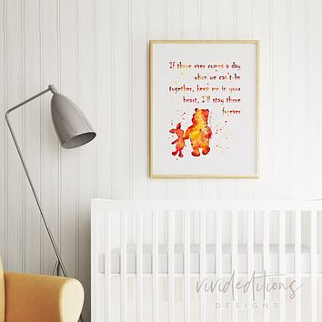 Winnie the Pooh Quote Watercolor Art Print