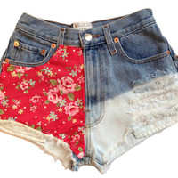 Customised Denim Shorts, High Waisted Frayed Shorts, Tumblr, All Sizes, Wildest Denim Dreams