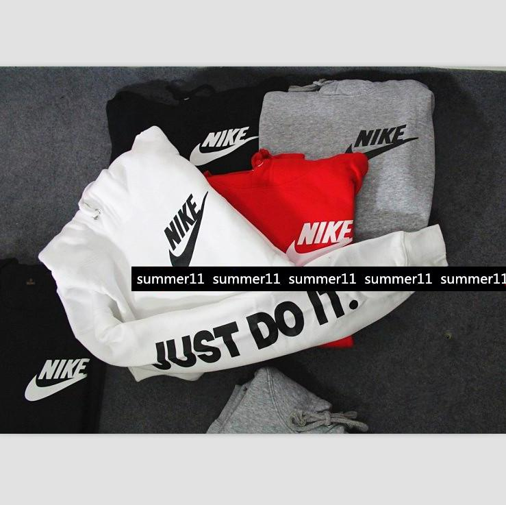 """Image of """"NIKE"""" """"Just do it"""" Sleeve Women Men Fashion Hooded Top Pullover Sweater Sweatshirt (4-color)"""