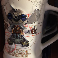disney parks stitch robot model 03 ceramic coffee mug new