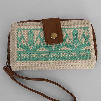 T-Shirt & Jeans Embroidered Wristlet Wallet