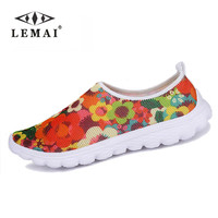 Comfortable flats casual shoes for women ladies casual zapatillas deportivas mujer flowers grafitti print shoes