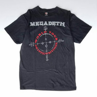 Megadeth Cryptic Writings Concert Tee Size XL