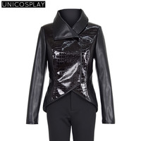 Once Upon A Time Cosplay Costume Halloween Costume for Women Black Coat Pants