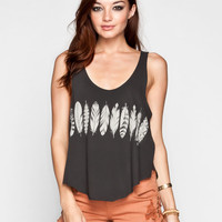 RVCA Feather Strip Womens Tank 235201104   Graphic Tees & Tanks