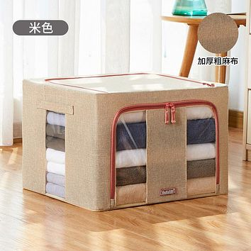 Bin With Cover Household Cloth Art Baina Lates Finishing Quilt Bag Locker Chest Receive A Case Receive Basket