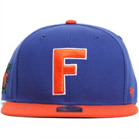 Florida Gators Two Tone Sure Shot Snapback Hat Blue / Orange