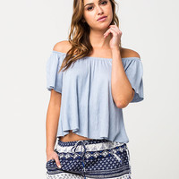 H.I.P. Off The Shoulder Womens Peasant Top | Essentials