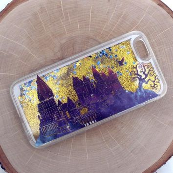 Wizards Castle in Twilight Gold Glitter iPhone Case