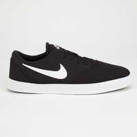 Nike Sb Check Canvas Mens Shoes Black/White  In Sizes