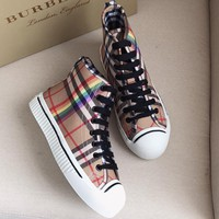 Burberry  Women Fashion Simple Casual High-Top Shoes