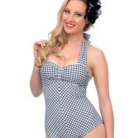 Black & White Houndstooth Dinah Swimsuit
