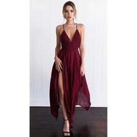 Red Long Casual Sundress