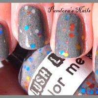 Color Me Gray  CustomBlended Glitter Nail Polish / by lushlacquer