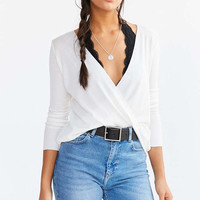Project Social T Drew Surplice Thermal Tee - Urban Outfitters