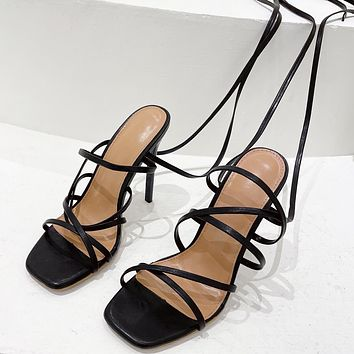New style strappy sandals fashion ladies high heels
