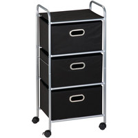 HONEY-CAN-DO CRT-02184 3-Drawer Rolling Storage Cart
