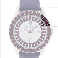 Betsey Johnson Watch, Women's Purple Leather Strap BJ00004-09 - Betsey Johnson - Featured Brands - All Watches - Jewelry & Watches - Macy's
