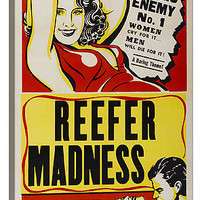 The Reefer Madness Vintage Movie Poster Canvas Print 18 x 12 x .75 in Multi