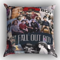 Fall Out Boy Collages X0910 Zippered Pillows  Covers 16x16, 18x18, 20x20 Inches