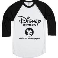 Disney University Professor Of Song Lyrics-White/Black T-Shirt