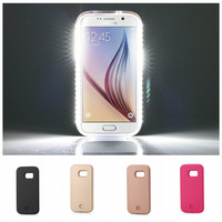 LED Light Selfie Case For Samsung Galaxy S5 S6 S6Edge S7 S6 Edge Plus