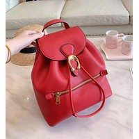 COACH High Quality Fashion Woman Leather Travel Bookbag Shoulder Bag Backpack Red