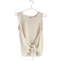 Front Tie Sweater Tank