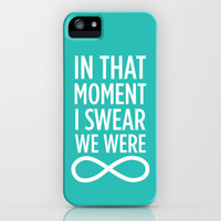 I Swear We Were Infinite iPhone & iPod Case by LookHUMAN